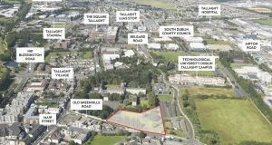 An aerial view of the Dominican Order site which fronts on to the Old Greenhills Road in Tallaght.