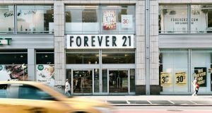 Forever 21's Union Square location in New York . Forever 21, the California retailer that helped popularise fast fashion in the United States said it plans to file for bankruptcy and will close up to 182 stores in the United States and up to 350 over all. Photograph: Haruka Sakaguchi/The New York Times)