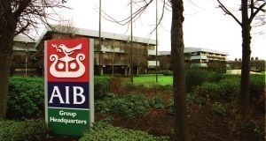 AIB's average number of staff fell to 9,801 in 2018 from 10,137 the previous year. Photograph: Alan Betson