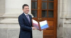 Minister for Finance Paschal Donohoe ahead of delivering his budget speech to the Dáil this week. Photograph: Dara Mac Dónaill