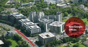 CGI view of Central Park in Leopardstown, where Google has secured new office space