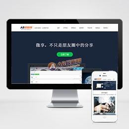 (自适应手机版)响应式微信科技类网站模板 html5响应式IT科技类